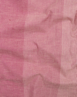Purple & Off-White Stripes Handloom Textured Cotton Fabric - Fabriclore.com