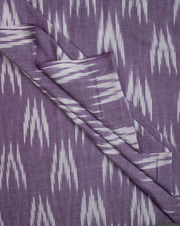 Purple Cotton Ikat Fabric