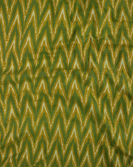 Yellow Mercerized Cotton Ikat  Fabric - Fabriclore.com