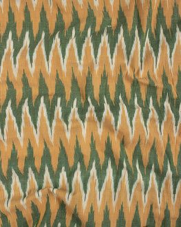 Yellow Ikat Cotton Fabric - Fabriclore.com