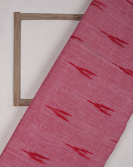 Red & Salmon Woven Ikat Cotton Fabric - Fabriclore.com
