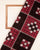 Black & Maroon Handwoven Sambalpuri Mercerized Ikat Cotton Fabric - Fabriclore.com