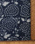 Blue & White Floral Indigo Hand Block Cotton Fabric - Fabriclore.com