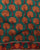 Teal & Orange Floral Kalamkari Screen Print Cotton Fabric - Fabriclore.com