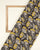 Grey & Yellow Floral Kalamkari Screen Print Cotton Fabric - Fabriclore.com