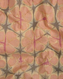 Salmon Screen Print Cotton Fabric - Fabriclore.com