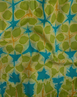 Green Screen Print Cotton Fabric - Fabriclore.com