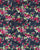 Blue & Fuchsia Floral Screen Print Cotton Fabric (56 Inch ) - Fabriclore.com