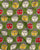 Green & Off-White Objects Kalamkari Pattern Screen Print Cotton Fabric - Fabriclore.com