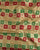 Red & Green Geometric Zari Work Banarasi Kataan Silk Fabric - Fabriclore.com
