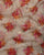 Off-White & Red Floral Foil Screen Print Organza Tissue Fabric - Fabriclore.com