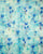 Turquoise & Blue Floral Foil Checks Screen Print Organza Tissue Fabric - Fabriclore.com