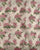 Off-White & Pink Floral Hand Block Pure Organza Tissue Satin Fabric - Fabriclore.com