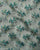 Green & Teal Floral Screen Print Organza Tissue Fabric - Fabriclore.com
