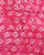 Pink & White Abstract Wax Batik Hand Block Rayon Fabric - Fabriclore.com