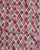 White & Red Geometric Digital Print Slub Chanderi Fabric - Fabriclore.com