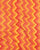 Orange & Red Chevron Screen Print Slub Cotton Fabric - Fabriclore.com