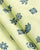 Green & Blue Floral Screen Print Slub Cotton Fabric - Fabriclore.com
