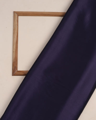 Navy-Blue Plain Satin Fabric - Fabriclore.com