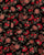 Black & Red Floral Embroidery Micro-Velvet Fabric With Zari Work - Fabriclore.com
