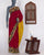 Maroon Kalamkari Printed Cotton Saree with Blouse - Fabriclore.com