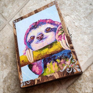 Vintage Sloth Jewelry Box-Stash Box