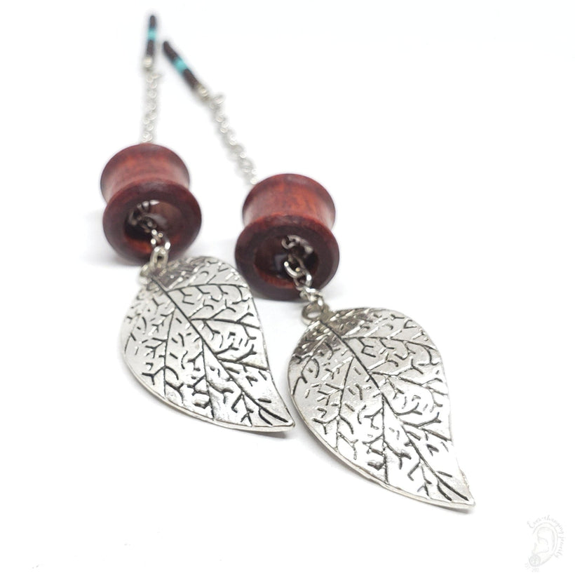 Bloodwood Magnetic Tunnels Ft. Detachable Silver Swaying Leaf Dangles