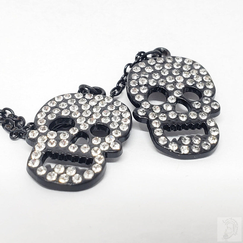 Ebony Magnetic Tunnels Ft. Detachable Black Crystal Skeleton Dangles