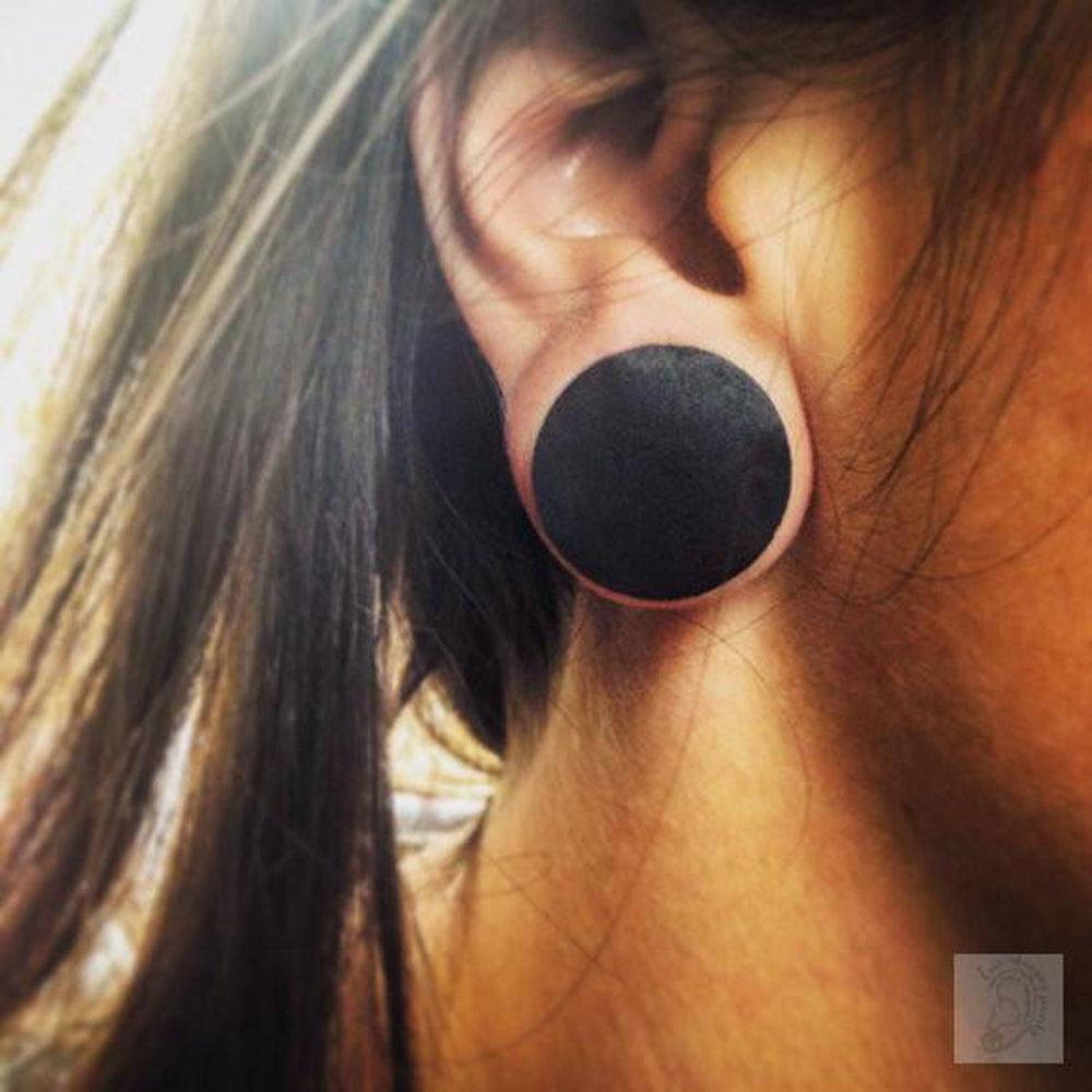 Sizes Lovely Organic Bloodwood Tunnels for Stretched Ear Lobes 28mm 30mm 32mm 34mm 36mm 38mm  Wooden Plug Gages Organic Eyelets