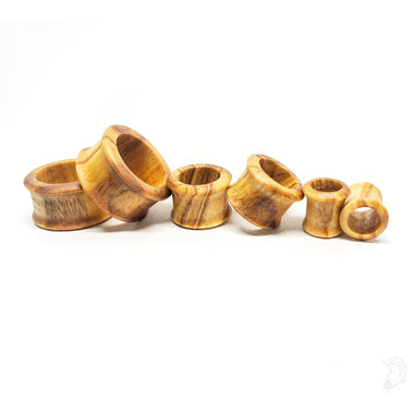 Organic Olivewood Tunnel Gauges for Stretched Ears Sizes: 2g (6mm) through 7/8 INCH (22mm)