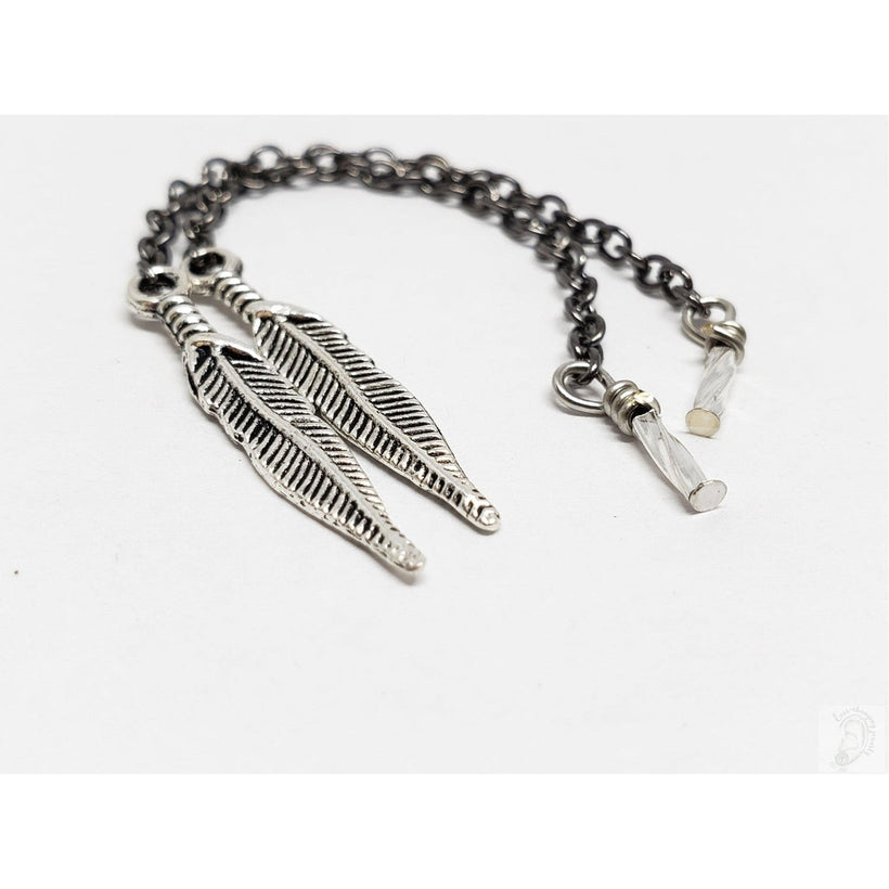Silver Feather Dangle Chains for Magnetic Tunnels, Without Tunnels