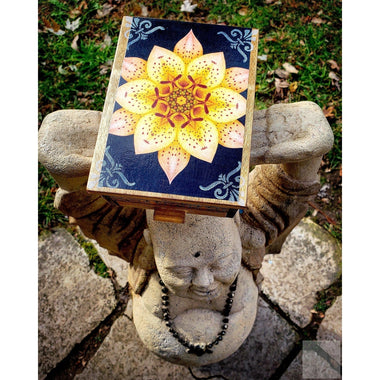 Vintage Blooming Lotus Jewelry Box