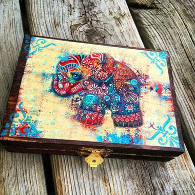 Vintage Elephant Plug Jewelry Box or Storage Box