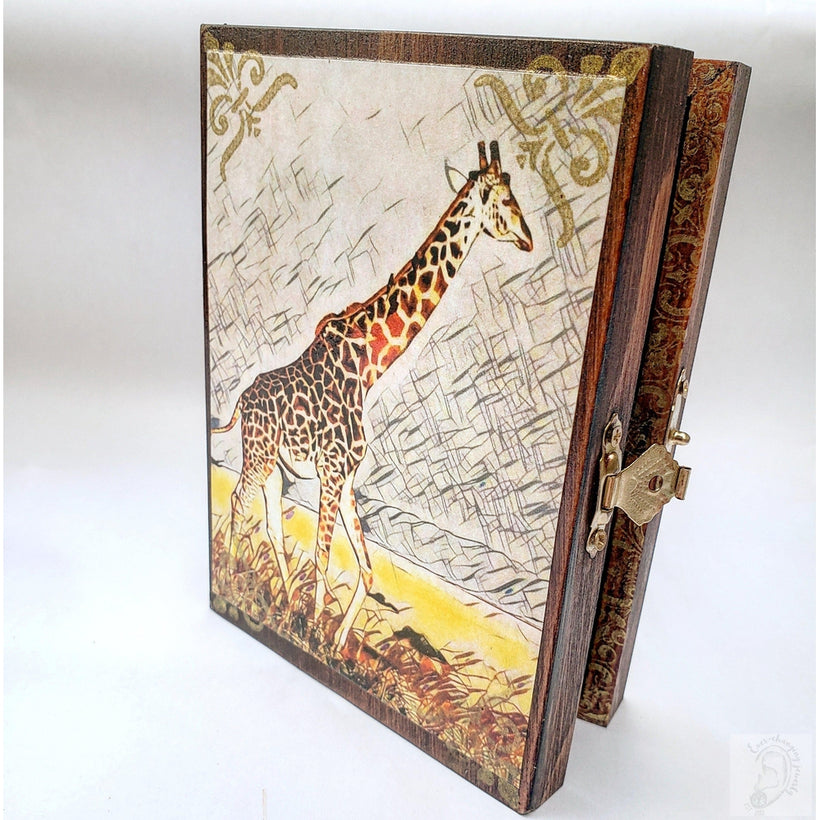 Vintage Giraffe Jewelry Box with Mirror