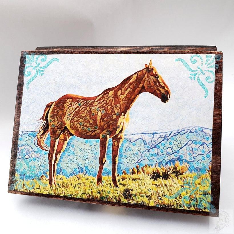 Vintage Horse Jewelry Box with Mirror