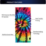Jungle Tie Die Tube Bandanna - JAQAR