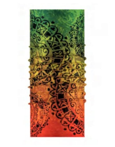 Stained Rasta Glass Tube Bandanna - JAQAR