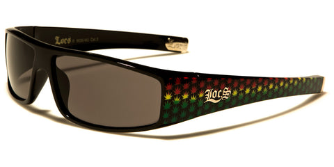 LOCS MJ Leaf Pattern Sunglasses - JAQAR