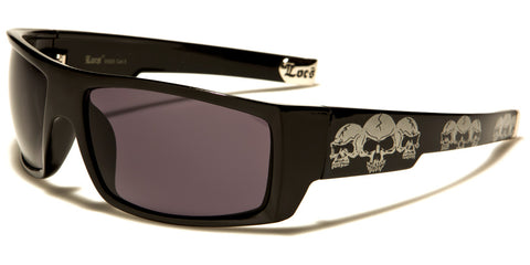 LOCS Skull Rectangle Men's Sunglasses - JAQAR