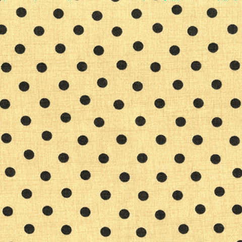 Moda Fabrics - Little Black Dress - Polka Dot and Tan