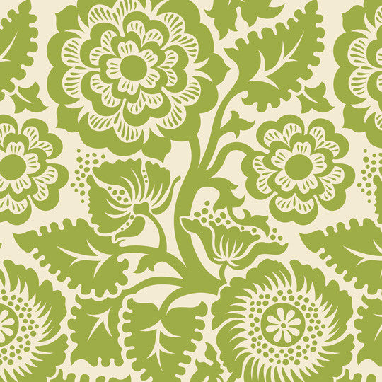 Blockprint Blossom - Home Dec - 3 yard minimum (C)