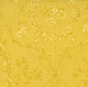 Desired Things - Flowers on Tonal Yellow -