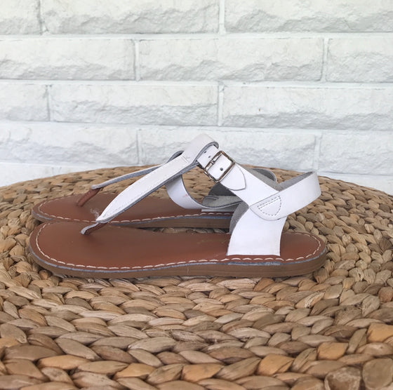 White Salt Water Sandals sz. 5.5-6
