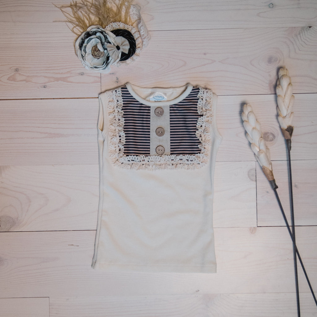 Lou Lou Top Cream/Black
