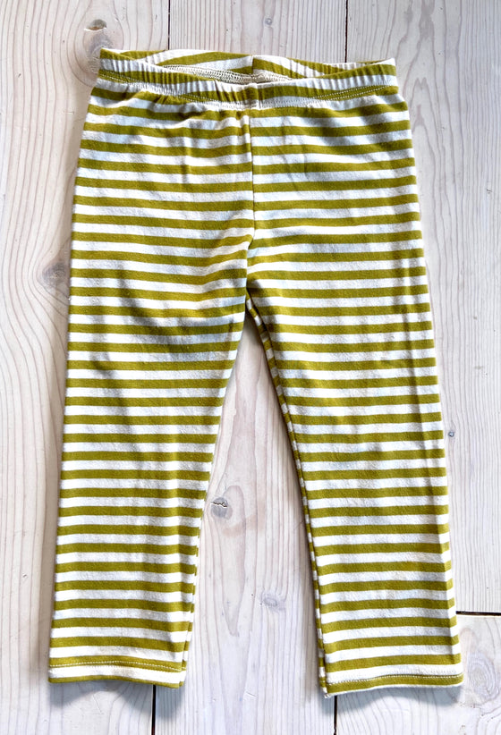 Basic Legging Green Stripe - Fall 14 Sample - Size 3