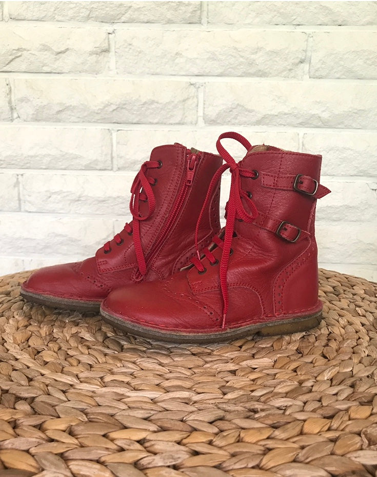 Pepe Leather Boot - Red - size11