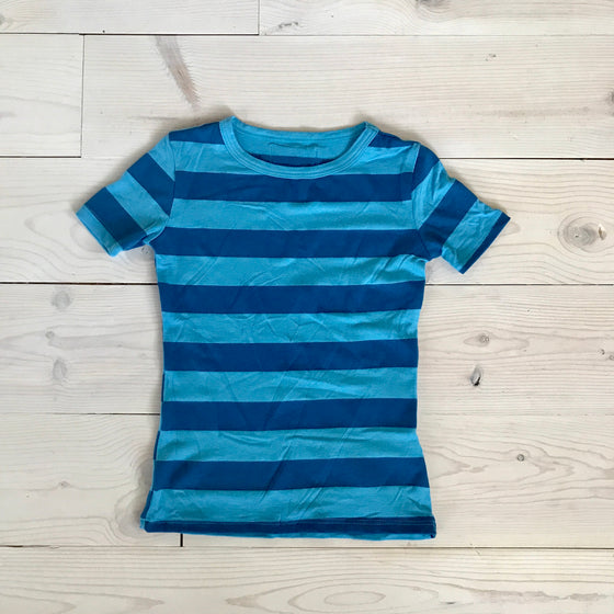 ASPYN TEE -Blue Stripe -  Spring 16' Sample - size 3