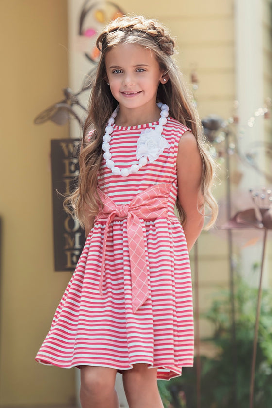 LIZZETTE DRESS-Stripe