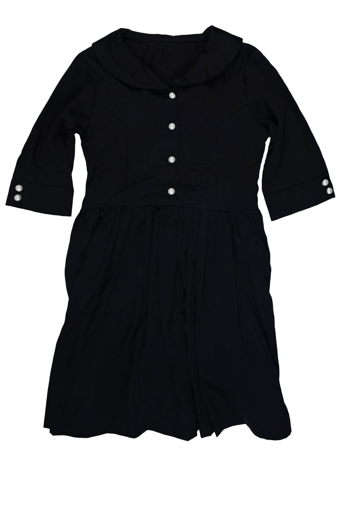 Elena Dress- Black- Sample