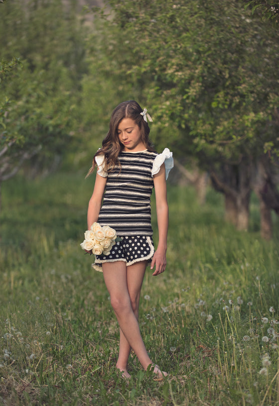 Tillie short Black dot